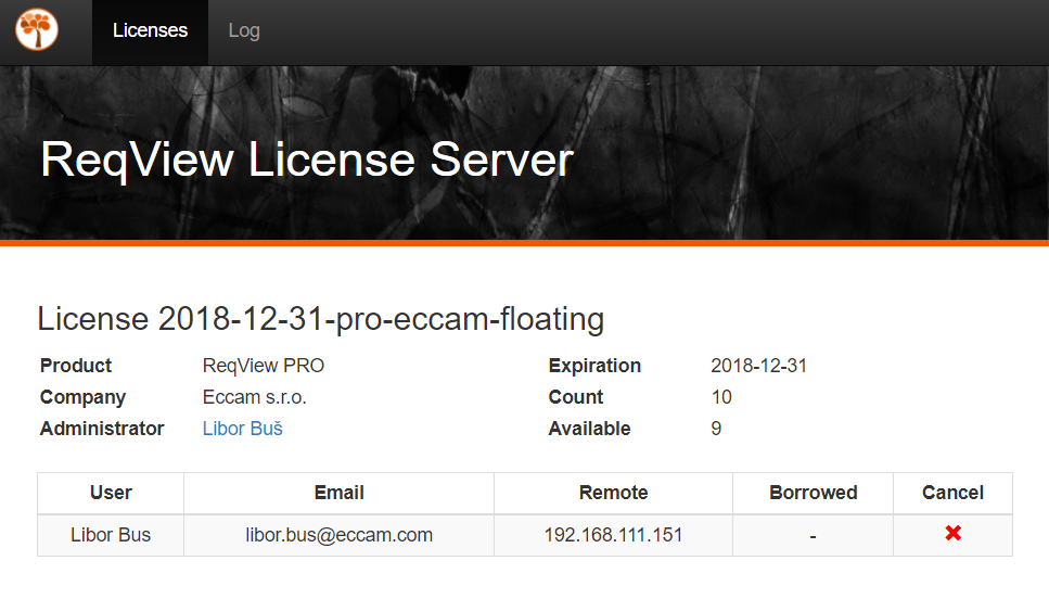 ReqView Floating License Server