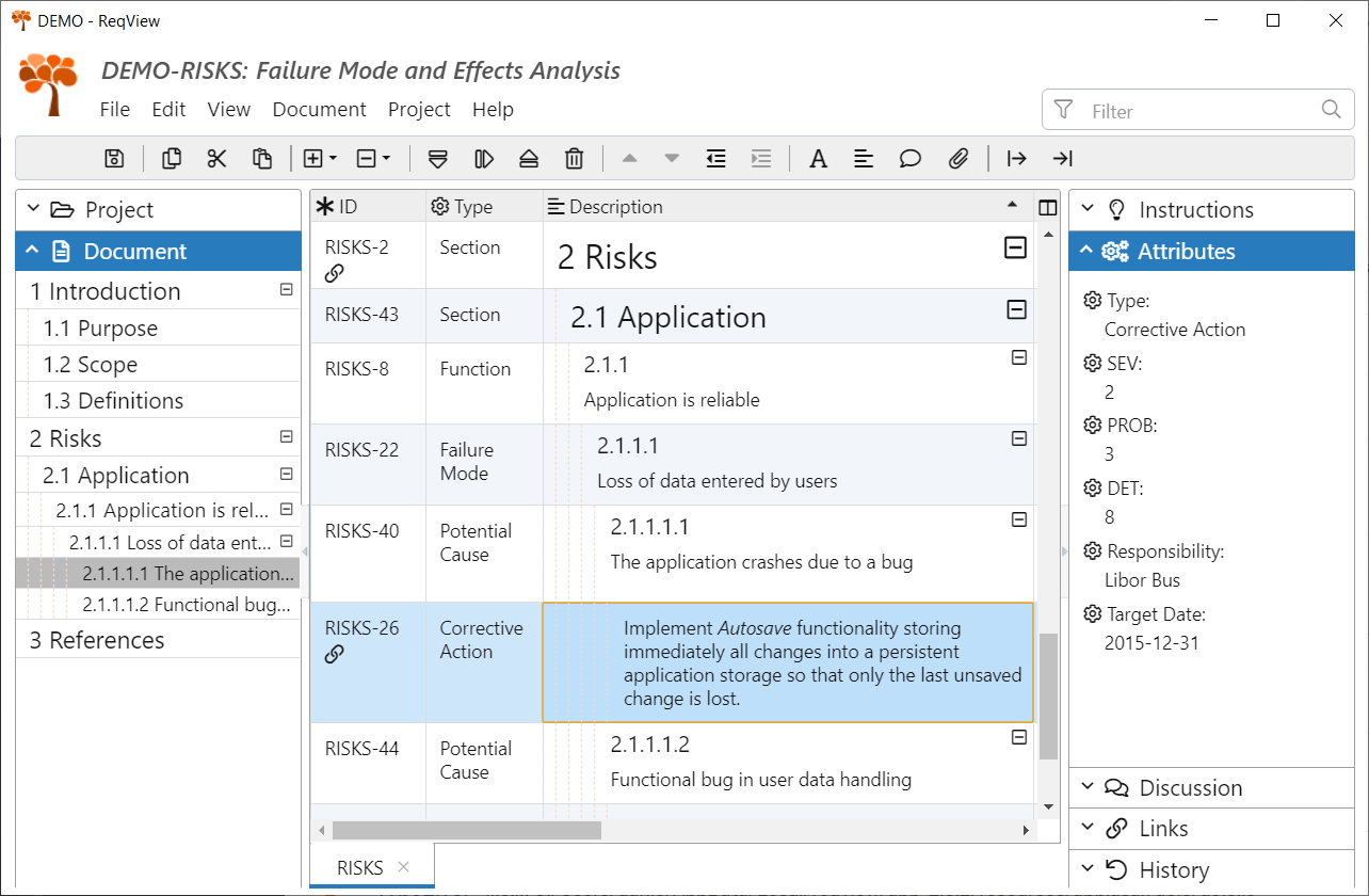Failure Mode And Effects Analysis Fmea Template Reqview